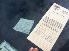 Heartwarming Note Proves Nice Traffic Cops Do Exist