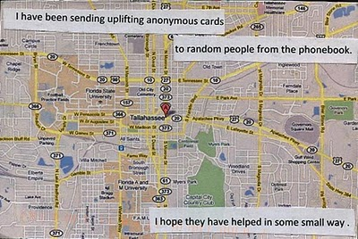anonymous postcards