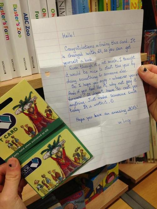 secret note in a book