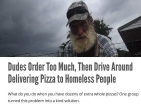 Pizza Delivery to the Homeless