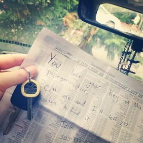 car key note