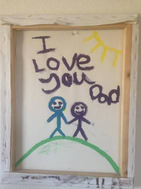 i love you dad painting