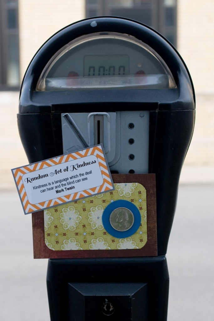 random act of kindness - parking meter