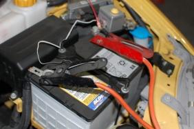jump start a battery