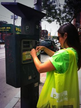 Random acts of kindness every day in Parkdale! The BIA pays for a visitor's parking.
