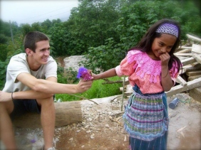 flowers for a Guatemalan girl