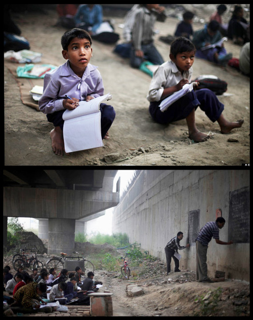 Our teacher has told us that when poverty strikes, you should open your mind