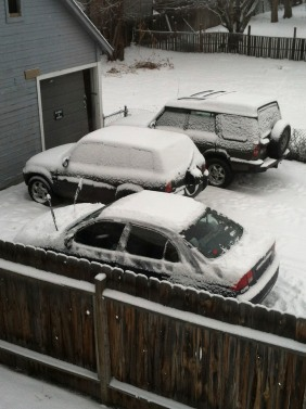 wiped the snow off my car