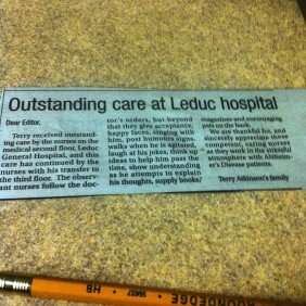 outstanding care at leduc hospital