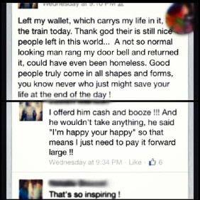 homeless guy returns wallet