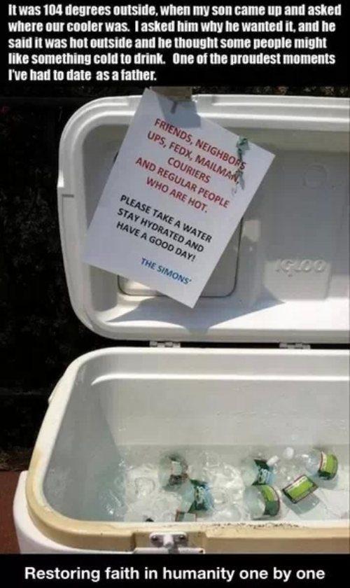 it was 104 degress outside - kindness