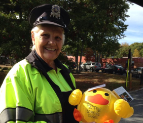 Random Act of Kindness~ MA school crossing guard receives special message & Lunch!