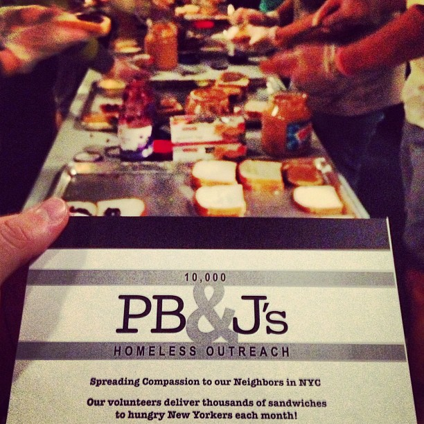 PB&J's free sandwiches for the homeless