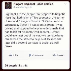 niagara police thanks status