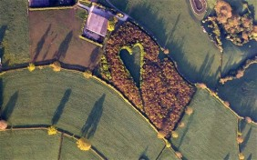 Farmer creates heart-shaped meadow in memory of wife