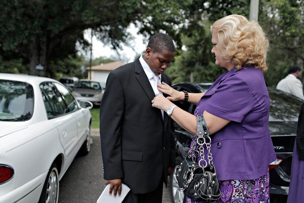 An orphan goes to church and asks someone, anyone to adopt him