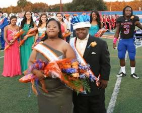 Two high-school seniors with Down syndrome have been elected homecoming king and queen by their classmates.