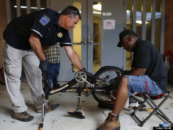 Tulsa Police Department Dedicates Day To Fixing Local Kids' Bikes