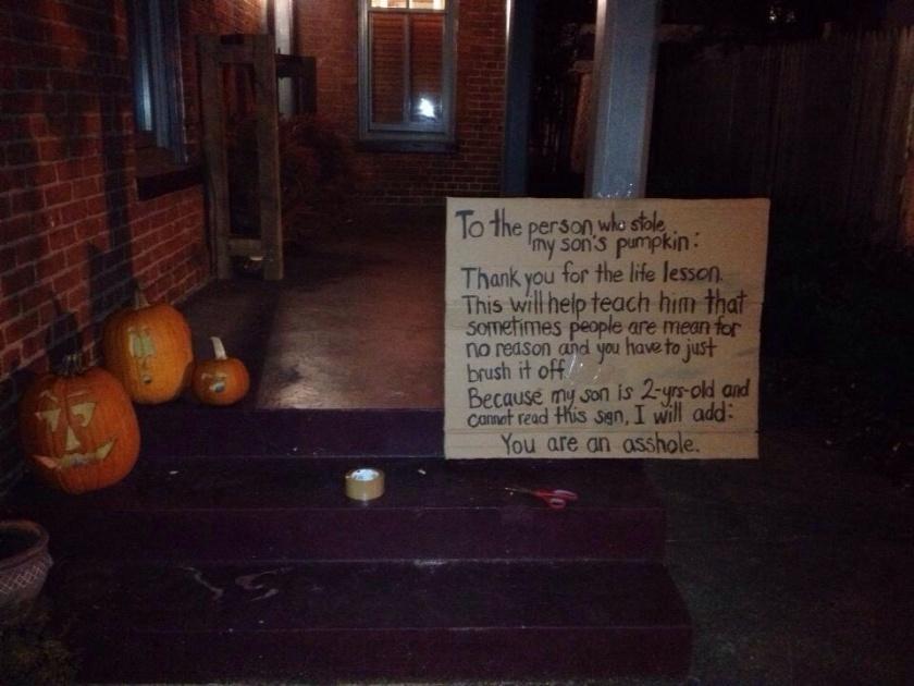 stolen pumpkin note