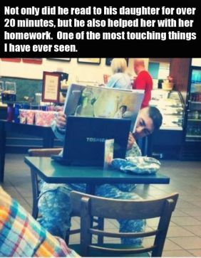 soldier talking on the internet to his child