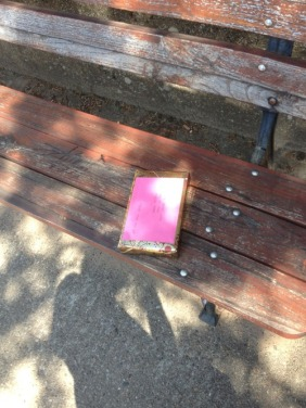 she left a book on a bench for someone to find - random act of kindness