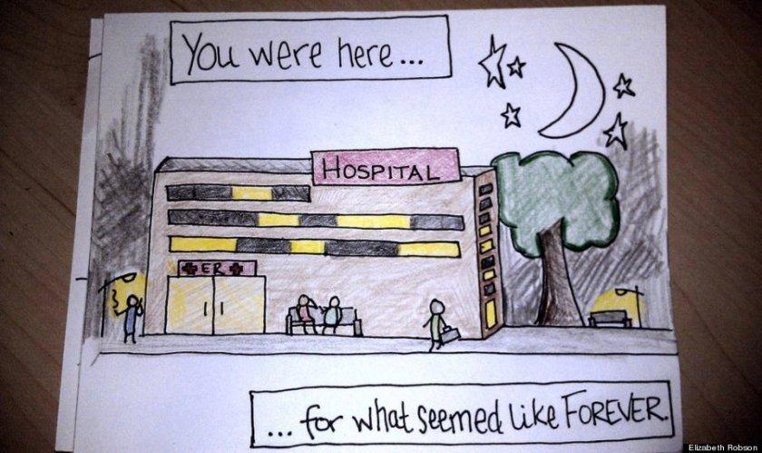 Wife's Hand-Drawn Comics Bring Sick Husband To Tears 1