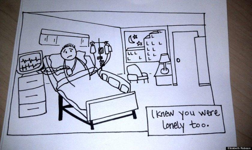 Wife's Hand-Drawn Comics Bring Sick Husband To Tears 10