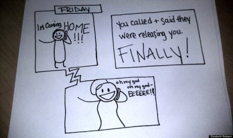 Wife's Hand-Drawn Comics Bring Sick Husband To Tears 11
