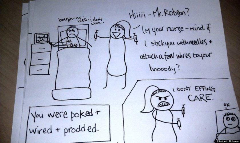 Wife's Hand-Drawn Comics Bring Sick Husband To Tears 2