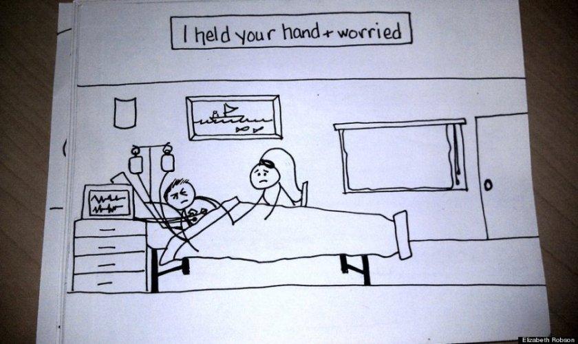 Wife's Hand-Drawn Comics Bring Sick Husband To Tears 3