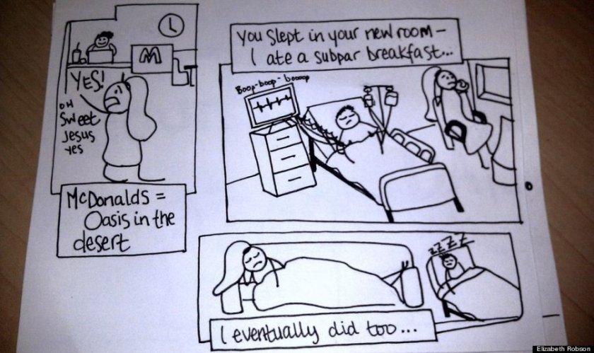 Wife's Hand-Drawn Comics Bring Sick Husband To Tears 5