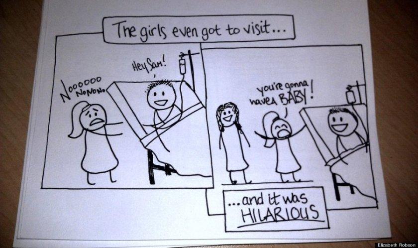 Wife's Hand-Drawn Comics Bring Sick Husband To Tears 8