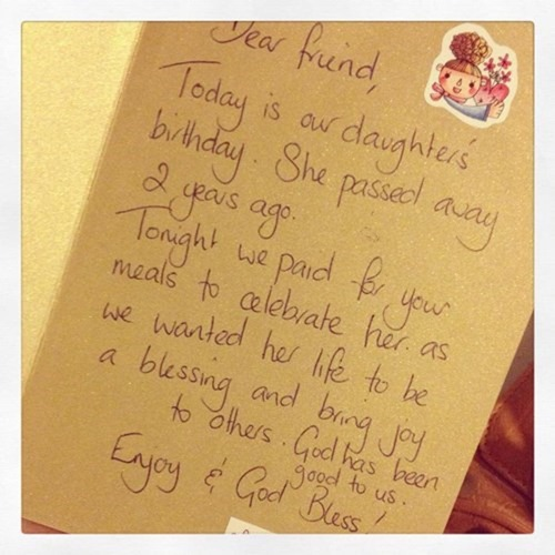 grieving couple celebrate their daughter's life with an act of kindness