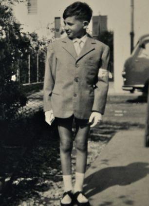 Tough life: Vinicio as a young boy before his condition fully developed