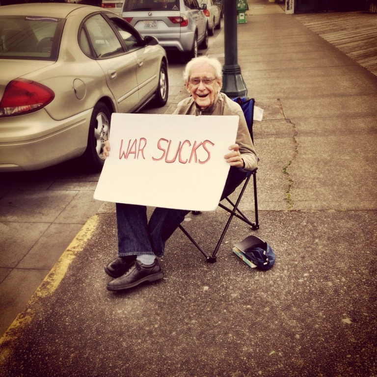 A couple years ago, I took a photo of this awesome veteran protesting in Olympia, WA