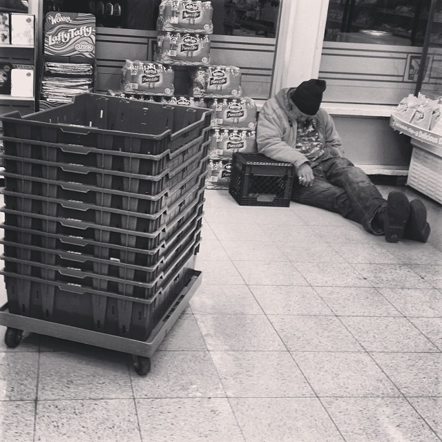"""Kindness is letting the homeless man who kicks it outside your 711 sleep inside because it's cold outside."""
