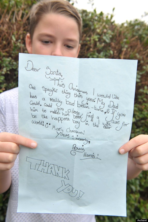 A Boy S Letter To Santa Asking Him To Cure His Dad