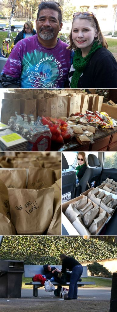 random acts of christmas kindness - feeding the homeless