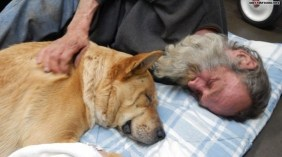 "A homeless man named Steve Anthony and his dog River received a ""Christmas Miracle"""