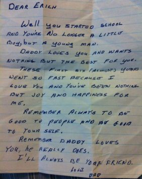 letter from a dad to his young son