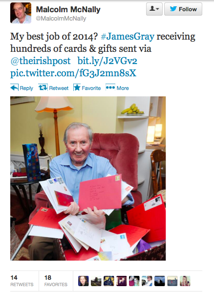 A lonely elderly man ran an ad asking someone to spend Christmas with him. A whole lot of people responded.