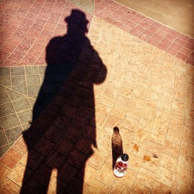 homeless man's shadow