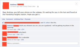 If more people were like this, we wouldn't need Find My iPhone