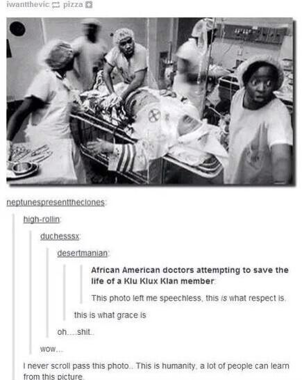 african american doctors trying to save a member of the ku klux klan