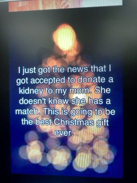 daughet is accepted to donate her kidney to her mum just in time for christmas