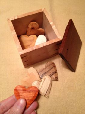 Wooden Hearts - A Box of Love