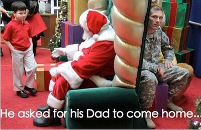 dad comes back from war as sons christmas present