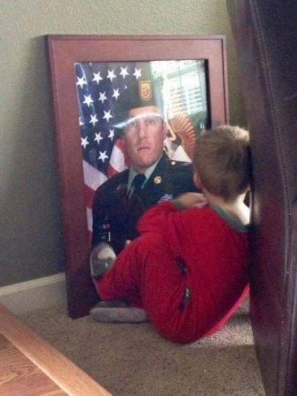 Missing his father…