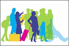 stranded passengers silhouette