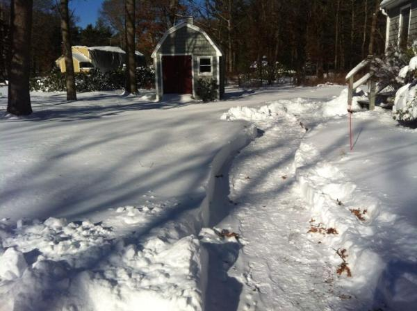 More than an act of kindness... A Duxbury man clears the snow from a neighbors driveway to get EMS in